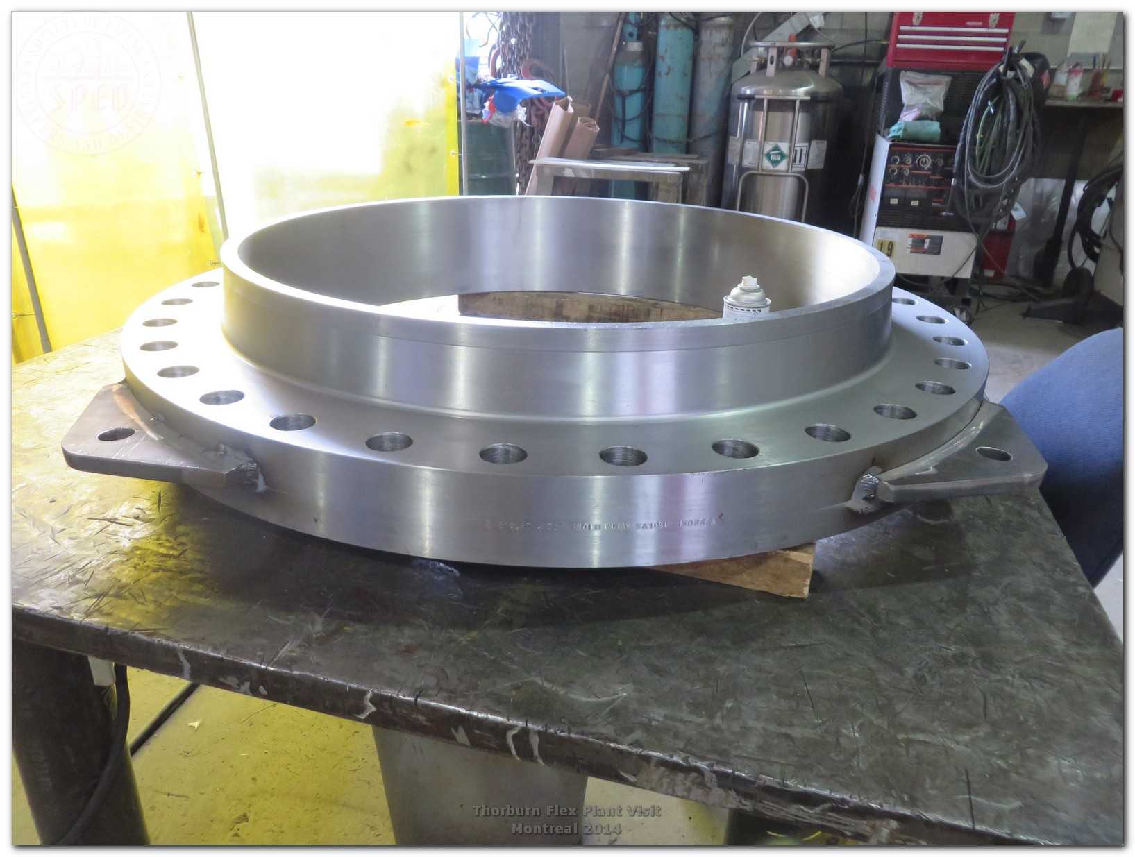 Forged flanges 36″NPS,B16.47 Series A,with tie rods lugs ready for welding