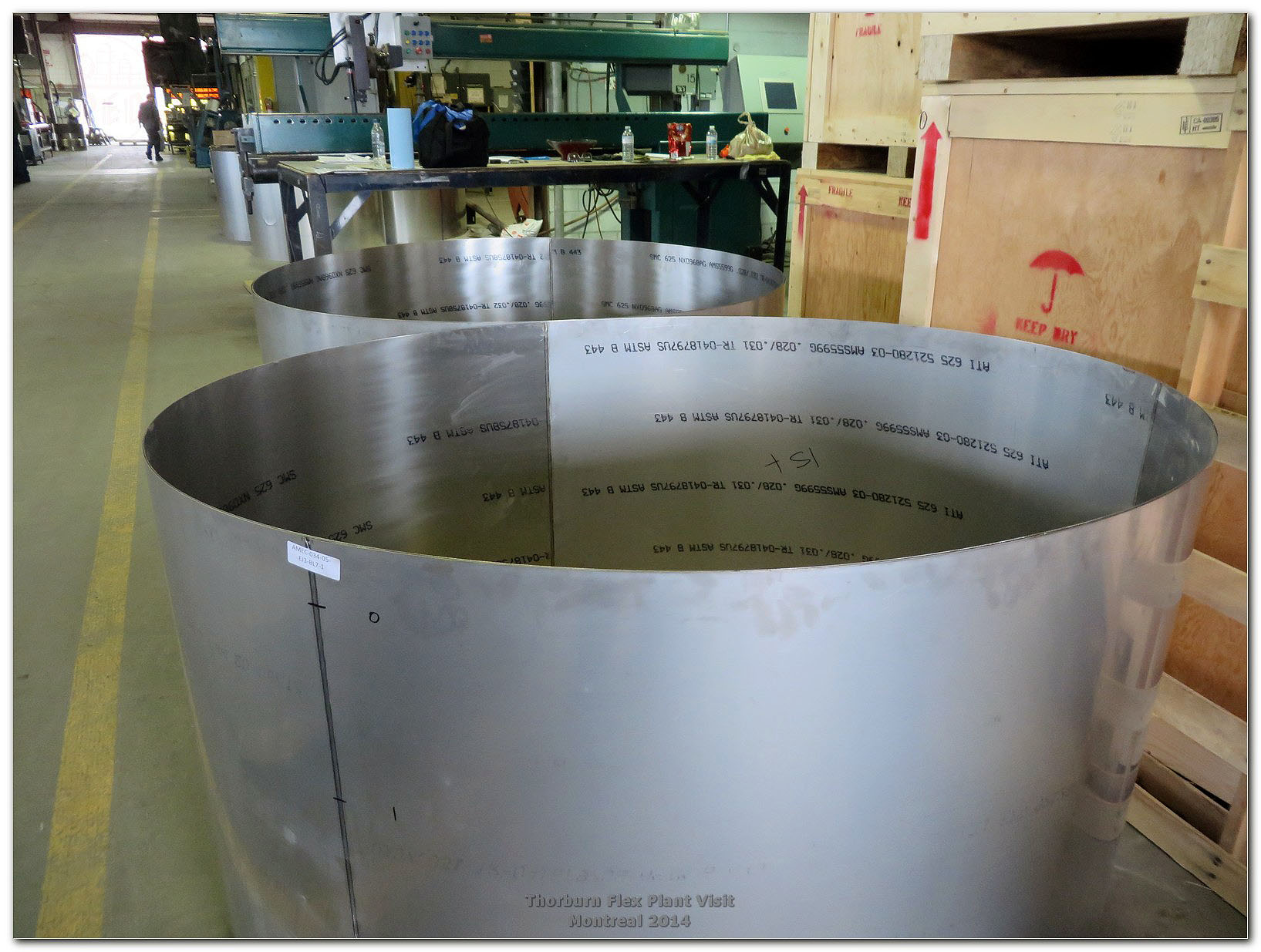 Bellows tube before convolution forming made of Inconel sheet rolled and seam welded by automatic TIG process